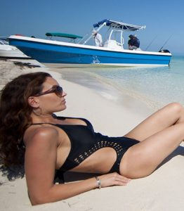 woman on key west beach